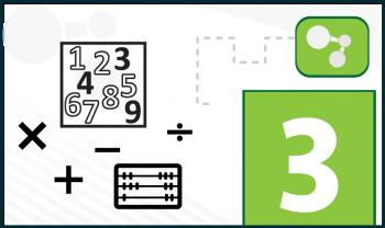 Suma y multiplicación: propiedad conmutativa y elemento identidad